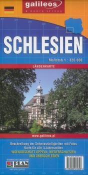 Schlesien Karte Deutsche Ortsnamen.Schlesien Länderkarte Straßenkarte Mit Polnischen Und Deutschen Ortsnamen
